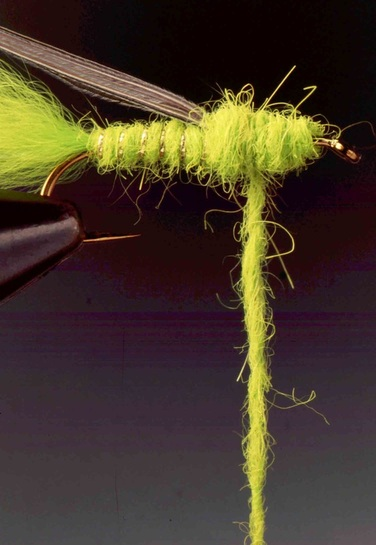 Chartreuse Streamer Nymph 06